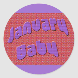 January Baby 6 Classic Round Sticker
