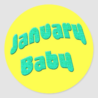 january baby classic round sticker