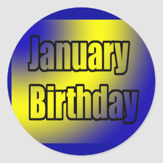January Birthday 1 Classic Round Sticker