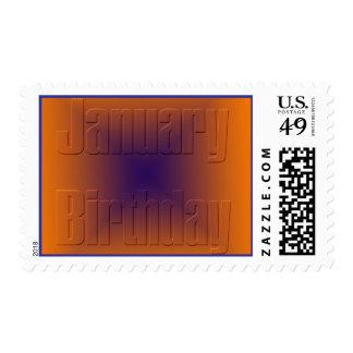 January Birthday 3 Postage Stamp