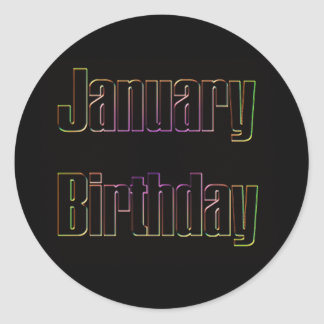 January Birthday 4 Classic Round Sticker