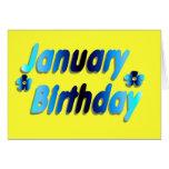 January Birthday 5 Card