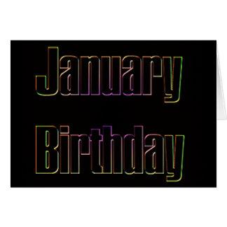January Birthday Greeting Card