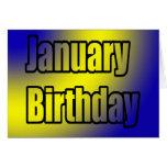 January Birthday Card