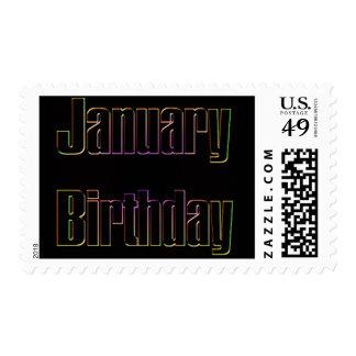 January Birthday Postage