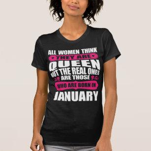 January Birthday Woman T Shirt