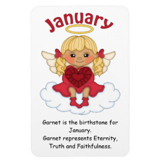 January Birthstone Angel Blonde Premium Magnet