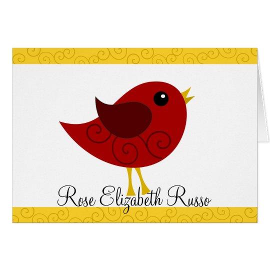 January Birthstone Bird Card