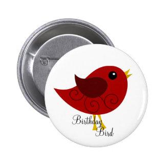 January Birthstone Bird Pinback Buttons