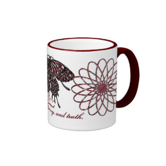 January Birthstone Butterfly Mug