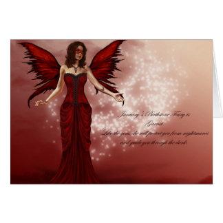 January Birthstone Fairy Birthday Card
