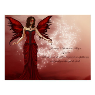 January Birthstone Fairy Postcard