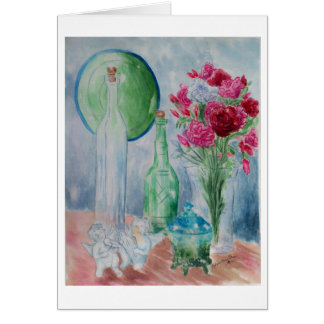 January Carnations Birthday Card