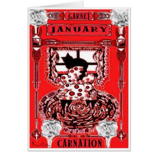 JANUARY CAT BIRTHDAY GREETING CARD