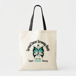 January Cervical Cancer Screening Month Tote Bags