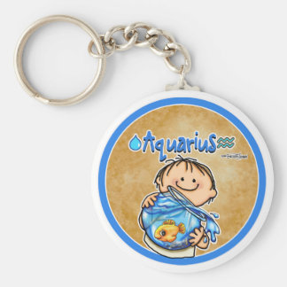 January & February - Aquarius Keychain