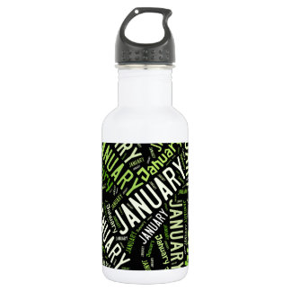 January Four Leaf Clover Water Bottle