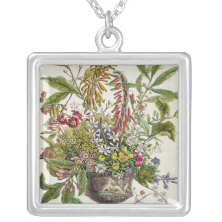 January, from `Twelve Months of Flowers' Silver Plated Necklace