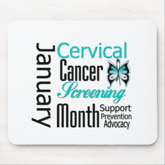 January National Cervical Cancer Screening Month Mouse Pad