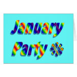 january party greeting cards