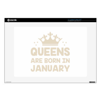 """January Queen 15"""" Laptop Decal"""