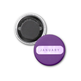 January Small Purple Round Magnet by Janz