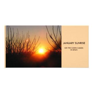 JANUARY SUNRISE by Jacquei Essex Photo Greeting Card