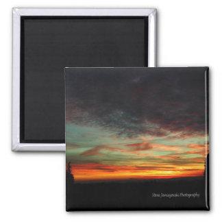 January Sunset Magnet