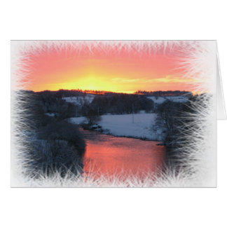 January Sunset on River Teviot Greeting Card