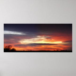 January Sunset Poster