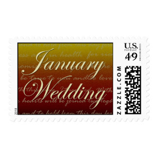 January sunset wedding postage