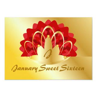 January Sweet Sixteen-Customize Card