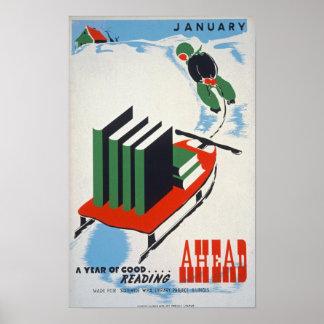 January Vintage Poster