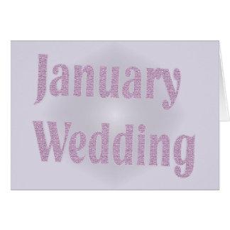 january wedding card