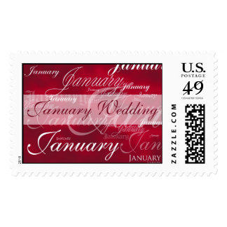 January Wedding Garnet Postage