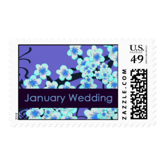 January Wedding Postage Stamps