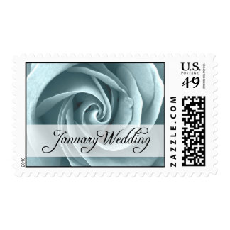 January Wedding : rose  of the season : Postage