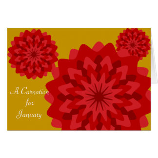 January's Birth Flower-Customize Greeting Card