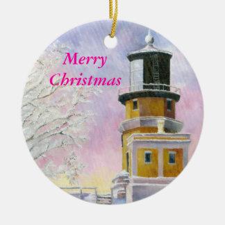 Januarys Light, MerryChristmas Ceramic Ornament