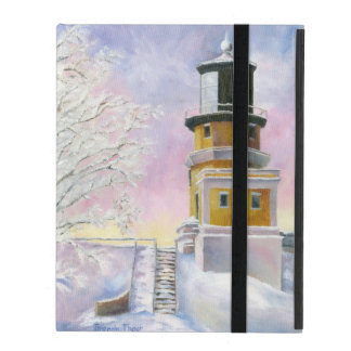 January's Lighthouse Split Rock iPad Cover