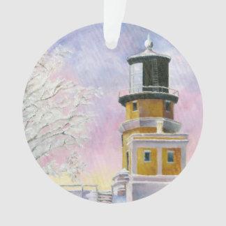 January's Lighthouse Split Rock Ornament