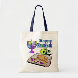Jánuca - comida, Dreidel, bolso de Menorah