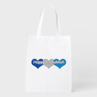 Jánuca feliz bolsas reutilizables