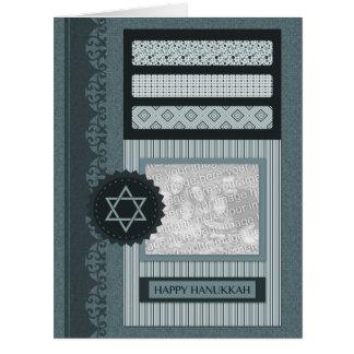 Jánuca feliz (libro de recuerdos) tarjeta de felicitación grande