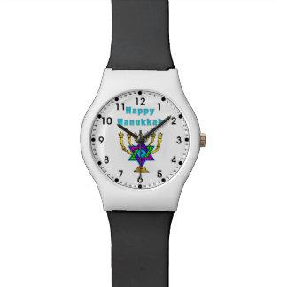 Jánuca feliz reloj de mano
