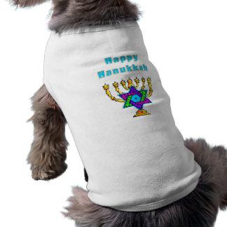 Jánuca feliz playera sin mangas para perro