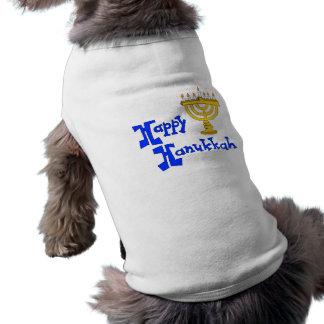 Jánuca feliz camiseta de perrito