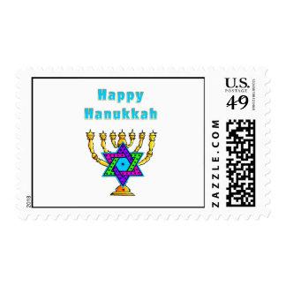 Jánuca feliz sello postal