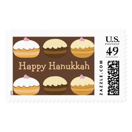Jánuca feliz sellos postales