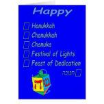 Jánuca feliz… sin embargo usted encanto él tarjeta de felicitación